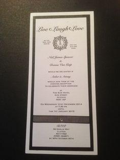 Evening invite - New Year's Eve wedding