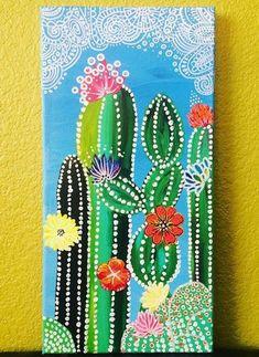 Cactus Drawing, Cactus Painting, Dot Painting, Painting & Drawing, Cactus Craft, Cactus Cactus, Indoor Cactus, Crayons Pastel, Wal Art