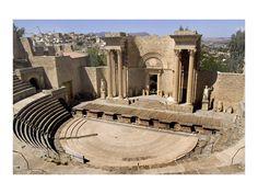 The Roman Theater inside the city- Guelma- Algeria