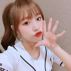 """[IZ*ONE IG] 181011 """"It's my first time come to baseball stadium⚾️ I probably should come here often💕 Who wants to go with me"""" ❔ Nayeon, Yuri, Eyes On Me, Japanese Girl Group, Baseball Pants, Kim Min, Kpop, The Wiz, Seulgi"""