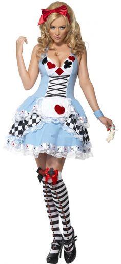 f8dab444ffcfd9 Alice in Wonderland kostuum met harten via www.partypakjes.nl Kostuum  Halloween