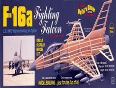 The Guillows 1/30 F-16 Fighting Falcon is a balsa wood aircraft model kit from the range manufactured by Guillow.  Considered by many to be one of the best fighter planes ever designed, the F-16A Fighting Falcon, was the winner of an Air Force competition in 1975 for a lightweight, low-cost fighter aircraft. During preproduction tests, the F-16A exceeded the specifications set forth by the Air Force for speed, climb, maneuverability and reliability.