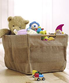 Look at this Natural Jute Storage Tote on #zulily today!