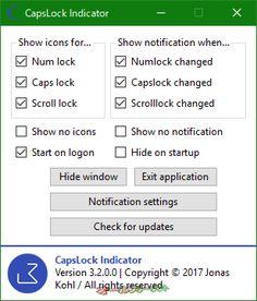 CapsLock Indicator--起動時の画面--オールフリーソフト