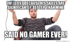 No gamer ever gamer gaming ever because Gamer Humor, Funny Gaming Memes, Funny Games, Gaming Facts, Pc Memes, Gamer Quotes, Funny Humor, Video Game Logic, Video Games