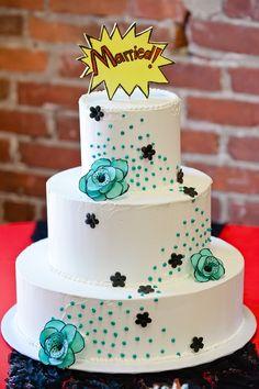 comic book wedding cake inspiration @cleverwedding