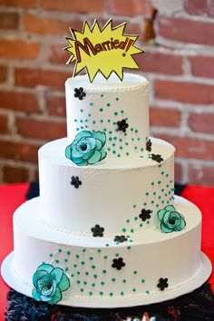 comic book wedding cake inspiration @cleverwedding