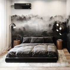 inspiratie 48 Stylish Bedroom Design Ideas Trendy Right This Year Modern Bedroom Design, Home Room Design, Home Interior Design, Stylish Bedroom, Bedroom Small, Luxurious Bedrooms, Home Decor Bedroom, Bedroom Ideas, Room Inspiration