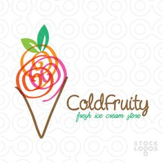 i like the use of the simple yet messy scribbles to represent the scoops Ice Cream Shop Names, Indian Ice Cream, Marshmallow Sauce, Ice Cream Museum, Ice Cream Logo, Ice Cream Decorations, Ice Cream Packaging, Coffee Shop Logo, Gelato Shop