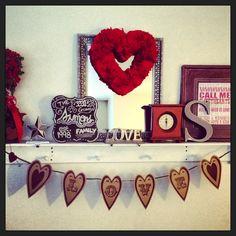 Valentines Day mantle ideas
