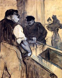 The Bartender / Henri de Toulouse-Lautrec - 1900