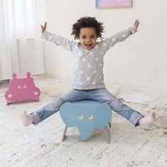 Taburete de elefante para niños #DaWanda #diseño #handmade #hechoamano