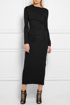 Vivienne Westwood Anglomania | Taxa draped stretch-jersey maxi dress | NET-A-PORTER.COM