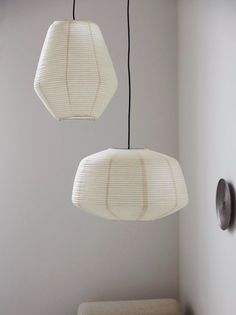 Paper Lampshade, Lampshades, House Doctor, Interior Lighting, Interior Styling, Interior Design, Ceiling Rose, Ceiling Lights, Paper Light Shades