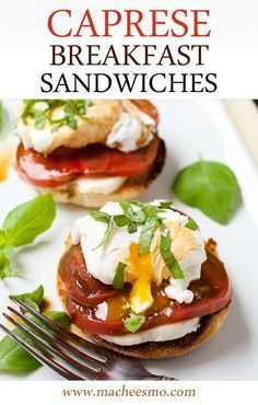 Caprese breakfast sandwich recipe - safe to eat when you use @SafeEggs ...
