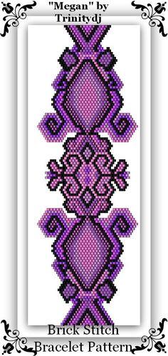 BP-BR-090 - Megan - Brick Stitch Bracelet Designer Pattern - One of A Kind - In The RAW