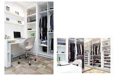 Portal Decoração - Closet com home office