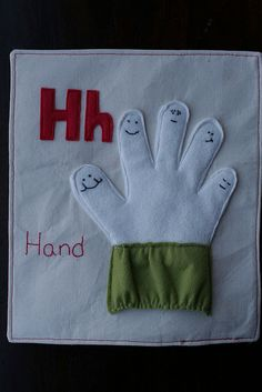 glove quiet book page