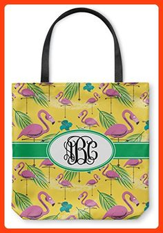 "Pink Flamingo Canvas Tote Bag - Large - 18""x18"" (Personalized) (*Partner Link)"