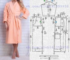 Need Some Sewing Patterns? Clone Your Clothes - Sewing Method Sewing Coat, Sewing Pants, Love Sewing, Sewing Clothes, Dress Sewing, Motif Kimono, Kimono Pattern, Clothing Patterns, Dress Patterns