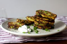 potato scallion and kale cakes - a great use up for leftover mashed potatoes! 1 1/2 cups leftover mashed potatoes and 1 egg. These look so good!
