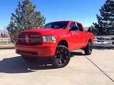 2014 red ram lifted 2011 dodge ram 1500 4x4 crew cab loaded lifted 35 tires - Red 2005 Dodge Ram 1500 Lifted