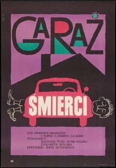 Vintage Poster - Never Let Go (John Guillermin, 1960) Polish design by Wladyslaw Janiszewsk - Automobile - Car