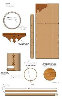 Medieval Leather Quiver How to Project                                                                                                                                                     More Archery Bows, Archery Quiver, Leather Armor, Leather Tooling, Diy Leather Quiver, Archery Equipment, Bow Hunting, Crossbow, Bow Arrows