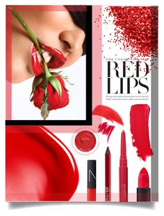 """""""Red Lips"""" by sonny-m ❤ liked on Polyvore featuring beauty, Chanel, NARS Cosmetics, Urban Decay, Lancôme, rms beauty, tarte and Smashbox"""