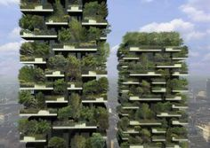 Unlike most skyscrapers, the 256-foot and 344-foot-tall towers of Bosco Verticale (which translates to 'vertical forest') in Milan are adorned with greenery, decorated with over 700 trees and 90 types of plants.