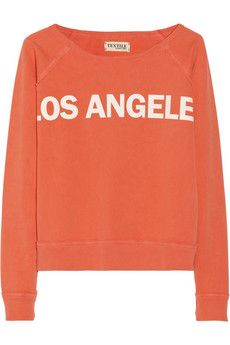 Elizabeth and James Los Angeles printed cotton-terry sweatshirt | NET-A-PORTER