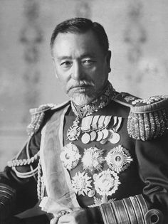 Portrait of Admiral Togo Heihachiro in uniform circa 1920 Printed following the…