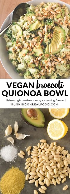 This easy recipe is packed with healthy, delicious ingredients like avocado, broccoli, almonds and nutritional yeast. The sauce is made with the broccoli stalks making it packed with nutrition and reducing any food waste. It's vegan, oil-free and gluten-free. Super easy to make, loaded with flavour. Full recipe: http://runningonrealfood.com/broccoli-quinoa-bowl/