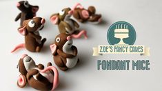 How to make fondant mice cake toppers How To Cake Tutorial  #fondant #fondantfigura