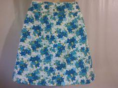 ANN TAYLOR Skirt Shorts Size 8/10 Blue floral  #AnnTaylor