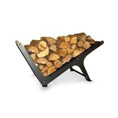 Firewood rack Omega charcoal
