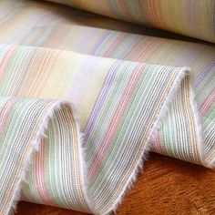 Great for summer, you can match this light multi stripe with any colour👌🏻#acornfabrics #bespoke #shirt #fabric #cotton #newfabrics #limitededition #multistripe