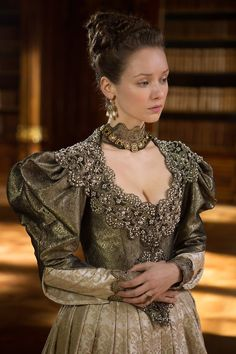 Alexandra Dowling as Queen Anne in The Musketeers (TV Series, 2014).