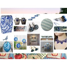 Blue from the Etsy Perspective by cozeequilts on Polyvore featuring Eurø Style, Nature Home Decor and BMW