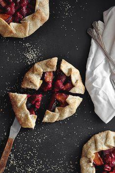 lemon raspberry plum galettes