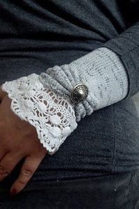 """Sock hand warmers. Add a pocket with 3"""" zipper to hold key, ID, cash, so you don't need to carry a purse."""