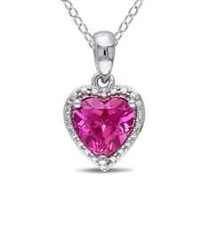 Pink Sapphire Heart Pendant Necklace, This is beautiful but I would like it a pail pink