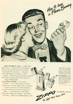Vintage Zippo Advertisement from 1948