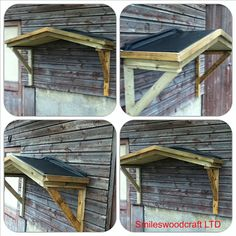 Timber Front Door Canopy Porch With Rubber Roof Bespoke Hand Made Porch & Painted PVC Door | All Our Own Work | Pinterest | Doors and Front ...