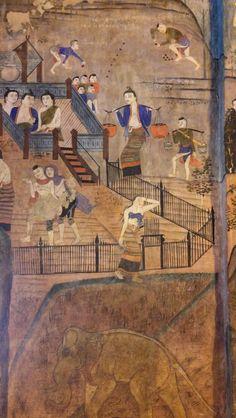 Crying Women - Wat Pumin / Nan / Thailand Mural Painting, Artist Painting, Painting & Drawing, Paintings, Thai Design, Thailand Art, Thai Art, Buddhist Art, Chinese Painting