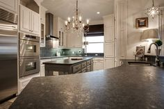 Beautiful kitchen at River Harbor Condos in Adriatica Village, McKinney, TX