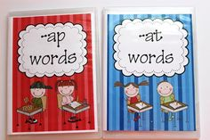 Create word family kits using old dvd cases. Great for homework or word work station!
