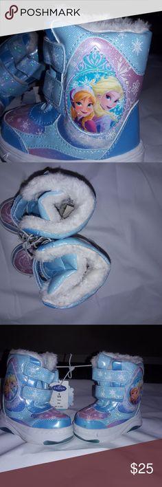 Elsa Frozen Disney Boots Anna Size Girls NEW Elsa Frozen Disney Boots Anna Size Girls Toddler Winter New Snow Store Rain Snow Boots Snow Shoes Disney Shoes Boots
