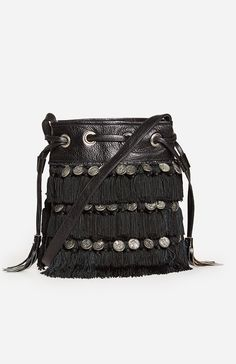 DailyLook: Stela 9 Katari Coin Bucket Bag in Black