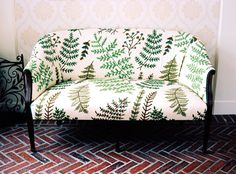 little sofa with ferns!